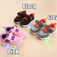 (21-30) Sepatu Olahraga / Sneakers / Kets Anak TK Lampu / LED Compass