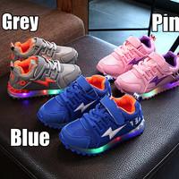 (22-30)Sepatu Olahraga / Sneakers / Kets Anak TK Lampu / LED Lightning