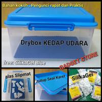 Drybox Kedap udara 100% free : Silika gel dan alas slipmat.Drybox
