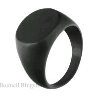 Cincin Pria /Ring bahan Titanium warna Hitam black polos mengkilap