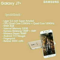 Hp Samsung Galaxy J7 Plus New Versi Samsung J7 + Garansi Resmi SEIN