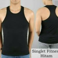 singlet kaos daleman baju dalam pria dalaman polos fitness gym