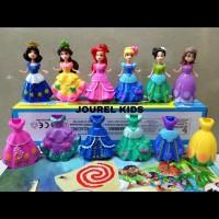 Mainan anak perempuan boneka figure princess Ariel Sofia belle snow
