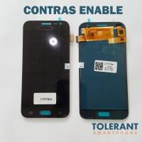 LCD + TOUCHSCREEN SAMSUNG J2 J200g KONTRAS ENABLE WARNA HITAM