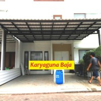 harga Kanopi Baja Ringan Super Elegan Atap Alderon- Jagakarsa Jaksel Tokopedia.com