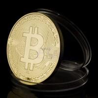 Gold Plated Bitcoin Miniatur - Gold