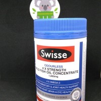 Swisse Odourless 4x Strentgh Wild Fish Oil Concentrate 1800mg 60 caps