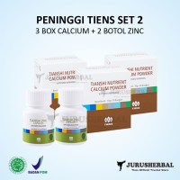 Set 2 Peninggi Badan TIENS Kalsium NCP + Zinc Original TERMURAH