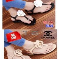 Sandal T-Strap Chanel W8720 | Sandal Cewek | Sendal Wanita | Batam