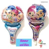 Balon Foil Tongkat / Pentung / Tenis Motif Shimmer and Shine Kartun
