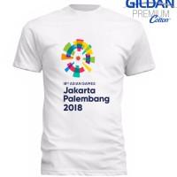 Kaos Gildan Asian Games New 2018 Logo - Kaos Pria - Kaos Wanita - Cott
