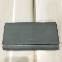 DOmpet Fossil Emma Flap Trifold Steel Blue