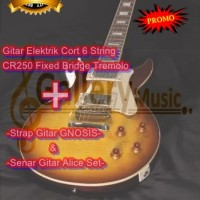 Gitar Elektrik Cort CR250 Fixed Bridge Tremolo (Bonus Strap & Senar)
