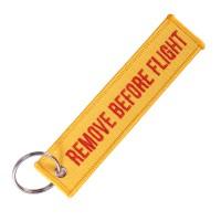 Remove Before Flight Key Chain  Orange