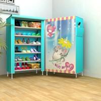 jual lemari sepatu dan rak sandal online oxford portable praktis