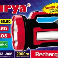 Senter Cas Tenteng Super Led 40w Surya + Powerbank + Lampu Samping