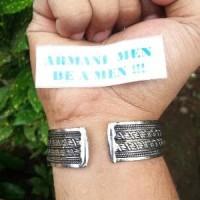 GELANG PLAT PAPUA INDIA ETNIK UNIK MONEL       (ARMANI Diskon
