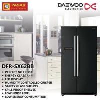 Kulkas side by side Daewoo DFR-SX62BB (Black Glossy)