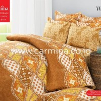 (Murah) Bedcover Batik Carmina - Wayang ukuran 160x200