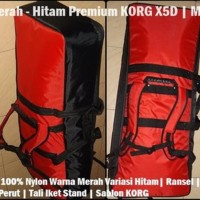 Tas Keyboard Premium KORG X5D | MicroARRANGER Merah-Hit Premium