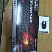 Keyboard Komputer M-Tech Stk-01 Usb plus Mouse Usb Std