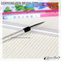 diamond pen brush 7mm kuas lukis painting gel brush nail art uv liner
