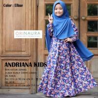 gamis muslimah Andriana kids || kaka dan adik
