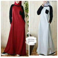 Baju muslim wanita model dress sporty casual/nichi dress hijab