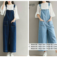 overall pocket jeans pants/celana kodok hijab /fashion muslim remaja