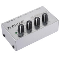Audio Mixer Mini MX 400 Ultra Compact 4 Channels Line Mono BARU