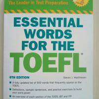 Barrons Essential Words for the TOEFL, 6th Edition (Original)