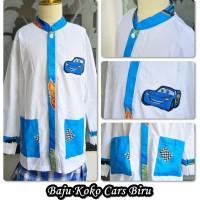 Baju Muslim Anak BAJU KOKO  CARS BIRU SIZE XL