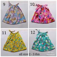 Baju Atasan Anak Perempuan tali bahan katun catra murah motif terlaris