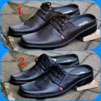 Sepatu Slop Sandal Casual Formal Pria Kickers Bustong Kulit Sapi Asl
