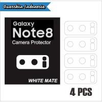 Original Samsung Note 8 Skin Cover White Mate Camera Protector 4 Pcs