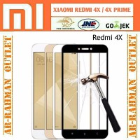 new 2018 xiaomi redmi 4x anti gores kaca Full Cover layar Hp Tempered