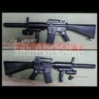 Airsoft Gun Spring. Both Elephant M16a13. Rifle Plus Ak Murah