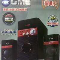 GMC 888R Multimedia Speaker Aktif 90WRMS Active Subwoofer System 2.1Ch