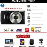 Canon Kamera Pocket Ixus 185 - Hitam - 20 Megapixels NEW