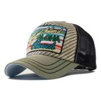 Topi Baseball Snapback Hawaii Island - Abu-Abu