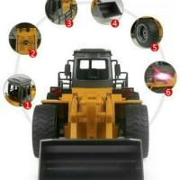 New Mobil RC HuiNa Toys1520 6 Channel 1 14 Metal Bulldozer Remote Con