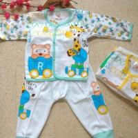 baju setelan bayi jerapah | kaos bayi grosir lusinan cotton karakter