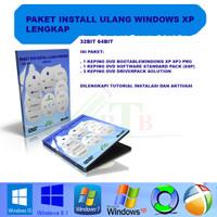 CD DVD Install ulang windows xp lengkap driverpack solution software