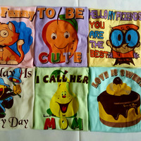 KAOS LENGAN PENDEK / kaos bayi / kaos anak, baju katun bayi, pakaian bayi,kaos oblong dengan motif lucu
