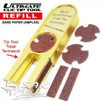 Refill Amplas - Ultimate Cue Tip Tool Sand paper Billiard Biliar Alat