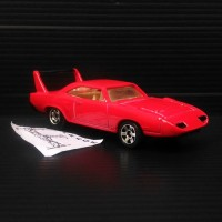 Custom Hotwheels hot wheels '70 Plymouth Superbird Red Merah