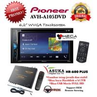 Paket Pioneer AVH-A105DVD Hrad Unit + TV Tuner Digital ASUKA HR-600