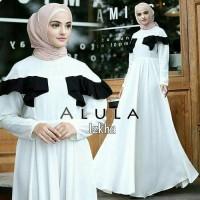 Dress Putih / Gamis Hitam / Baju pesta/ Pakaian hijab : Alula Dress M