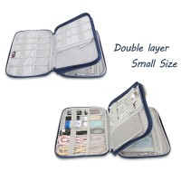 Travel Case For Various USB  Phone Charger Cable and SD Cards Double