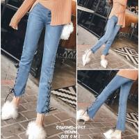 S3WOMD celana denim celana jeans robek jeans ikat celana panjang ketat